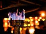 outdoor propane flame
