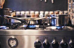 a propane gas stove