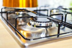 a clean propane stove top