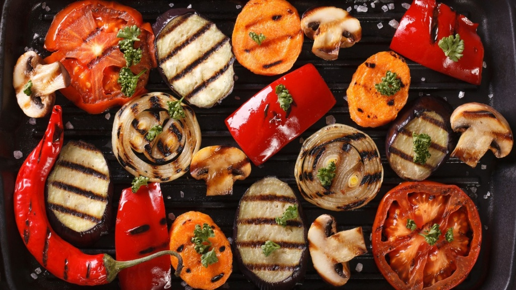 Amazing looking veggies grilled to perfection for a vegetarian grill recipe