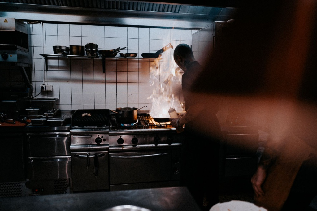 cooking with gas in kitchen